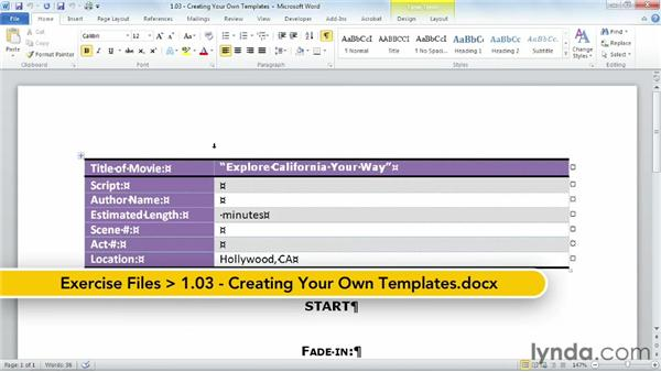 Creating your own templates: Building Templates in Word