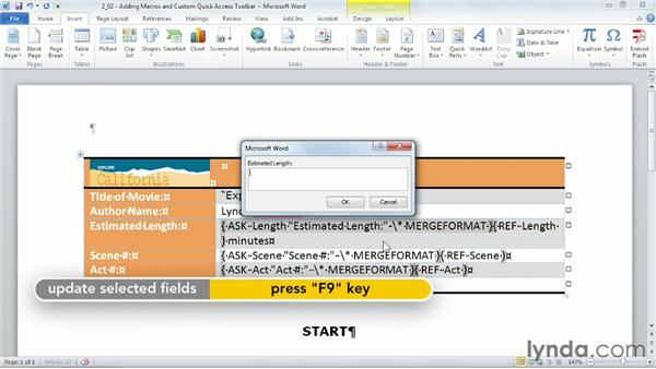 Adding macros to templates and the Quick Access Toolbar: Building Templates in Word