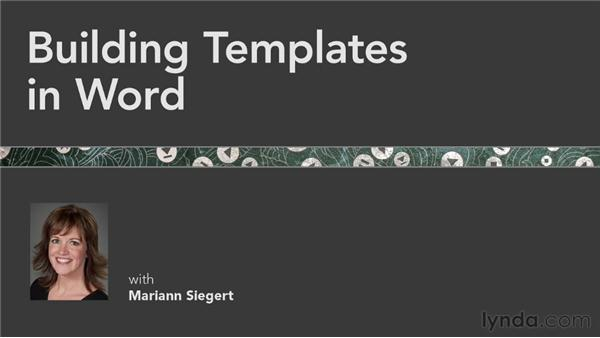 Goodbye: Building Templates in Word
