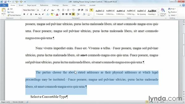 Adding power using content controls: Building Blocks and Macros in Word