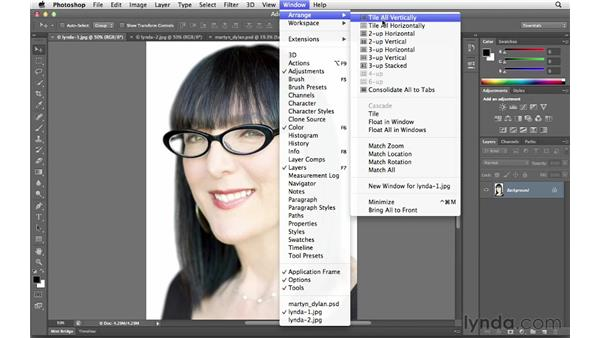 Arranging photos and choosing Screen Mode options: Photoshop CS6 for Photographers New Features