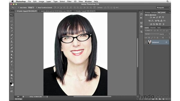 Selecting a workspace: Photoshop CS6 for Photographers New Features
