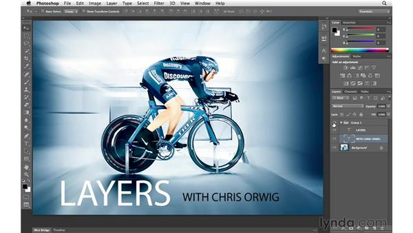 Applying layer style effects to a group: Photoshop CS6 for Photographers New Features