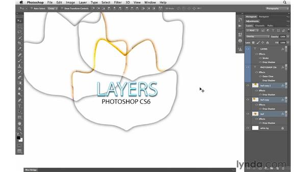 Working with groups and filtering: Photoshop CS6 for Photographers New Features