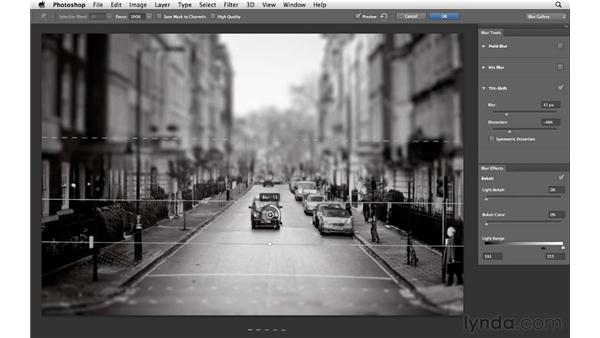 Enhancing photographs with the Tilt-Shift Blur tool: Photoshop CS6 for Photographers New Features
