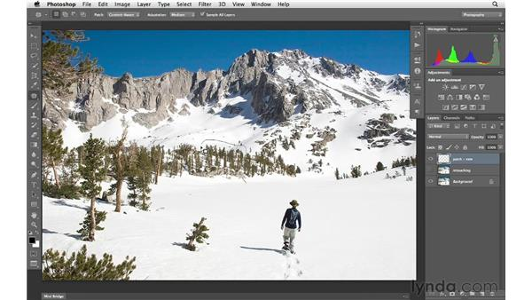 Making content-aware corrections with the Patch tool: Photoshop CS6 for Photographers New Features