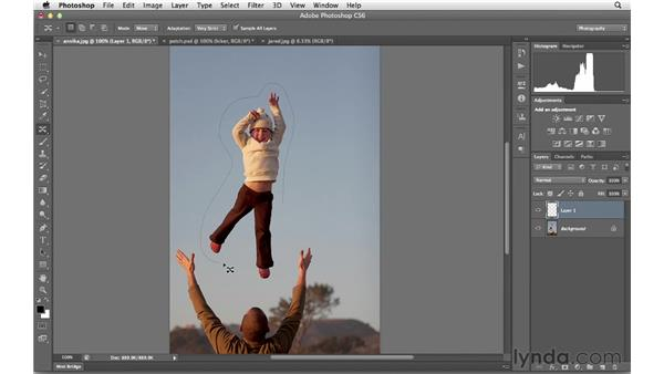 Using the Content-Aware Move tool : Photoshop CS6 for Photographers New Features