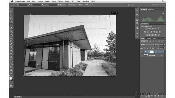 Using perspective cropping: Photoshop CS6 for Photographers New Features