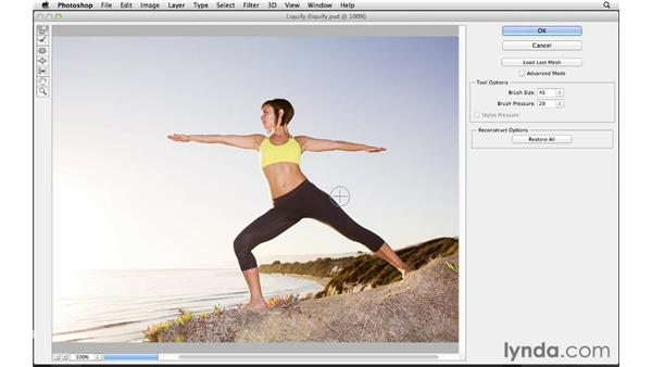 Working with Liquify in real time: Photoshop CS6 for Photographers New Features