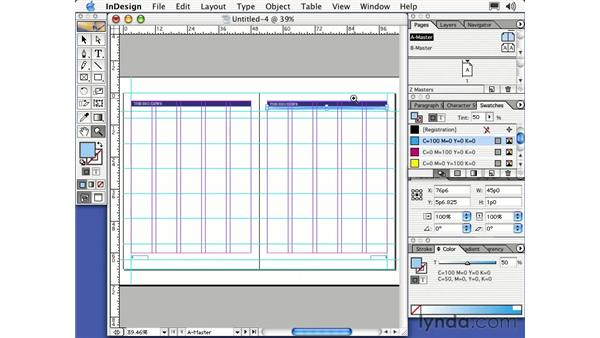 layout on master: Learning InDesign 2