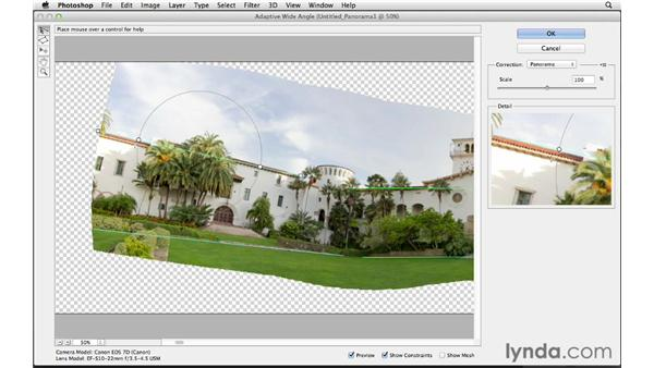 Making adjustments with the Adaptive Wide Angle filter: Photoshop CS6 for Photographers New Features