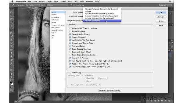 Sizing images with the Bicubic Automatic interpolation option: Photoshop CS6 for Photographers New Features