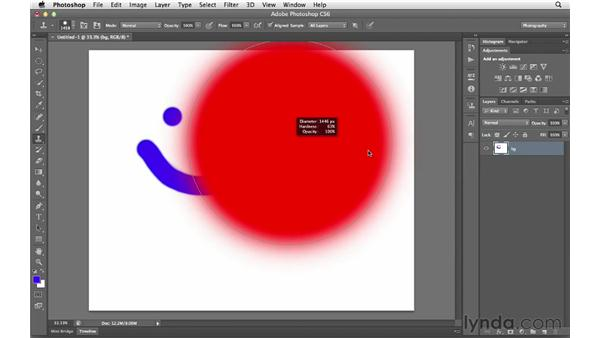 Changing brush characteristics and making paths: Photoshop CS6 for Photographers New Features
