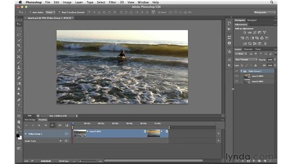 Working with multiple clips: Photoshop CS6 for Photographers New Features