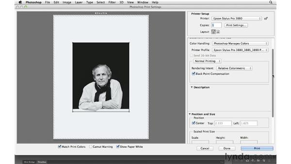 Working with the new Print dialogue: Photoshop CS6 for Photographers New Features