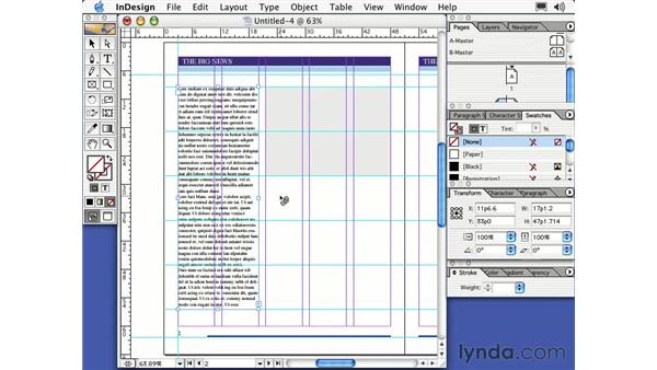 threading text frames: Learning InDesign 2