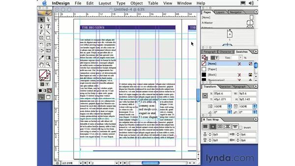 text wrap: Learning InDesign 2
