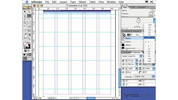 setting type: Learning InDesign 2