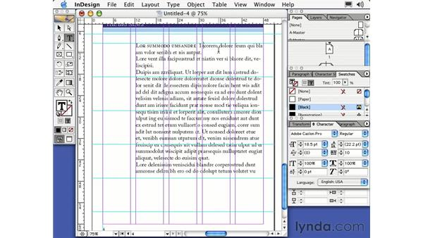 open type fonts: Learning InDesign 2