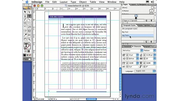 removing styles: Learning InDesign 2