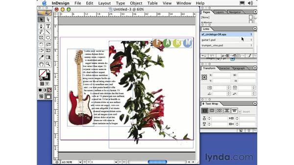 links palette: Learning InDesign 2