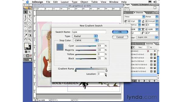 working with gradients: Learning InDesign 2
