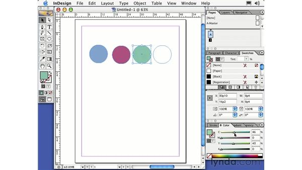 creating a logo with drawing and type: Learning InDesign 2