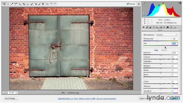 Fixing color casts with the White Balance tool: Photoshop CS6 Essential Training