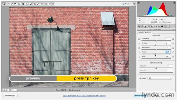 Making perspective corrections to images: Photoshop CS6 Essential Training