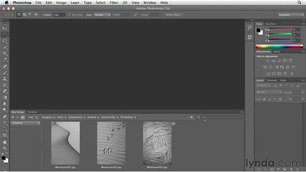 Opening files from Mini Bridge: Photoshop CS6 Essential Training