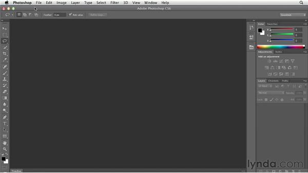 Using the Application frame: Photoshop CS6 Essential Training