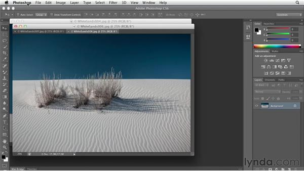 Stopping Photoshop from tabbing documents: Photoshop CS6 Essential Training