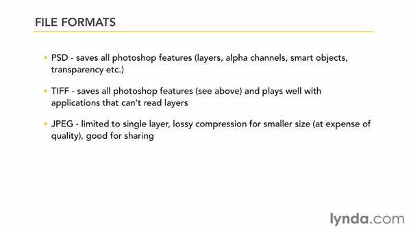 Understanding file formats: Photoshop CS6 Essential Training