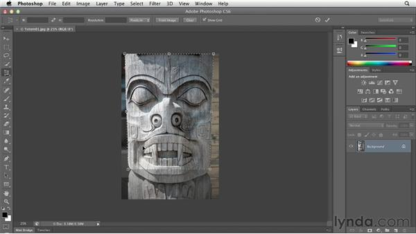 Using the Perspective Crop tool: Photoshop CS6 Essential Training