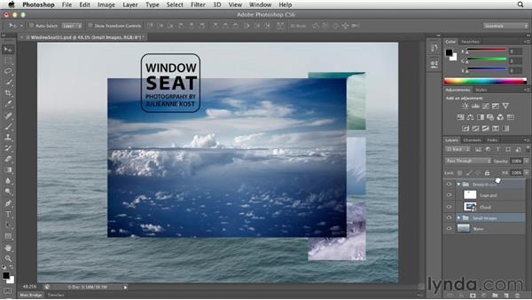 Organizing layers using layer groups: Photoshop CS6 Essential Training