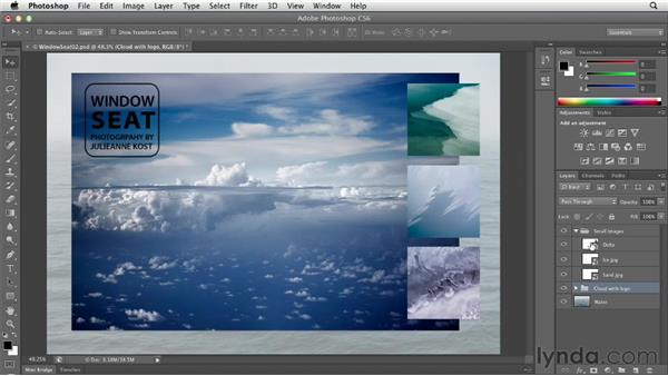 Merging, rasterizing, and flattening layers: Photoshop CS6 Essential Training