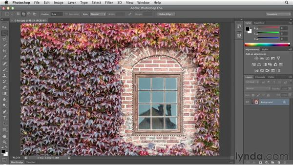 Combining selections: Photoshop CS6 Essential Training