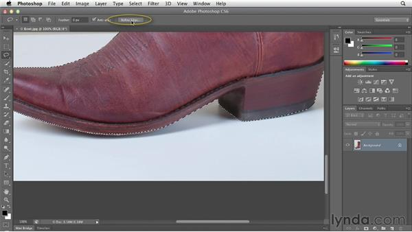 Using the Quick Selection tool: Photoshop CS6 Essential Training