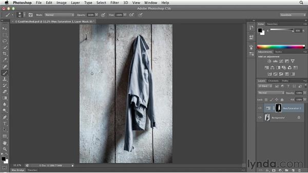 Changing the opacity, size, and hardness of the painting tools: Photoshop CS6 Essential Training