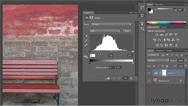 Introducing adjustment layers: Photoshop CS6 Essential Training