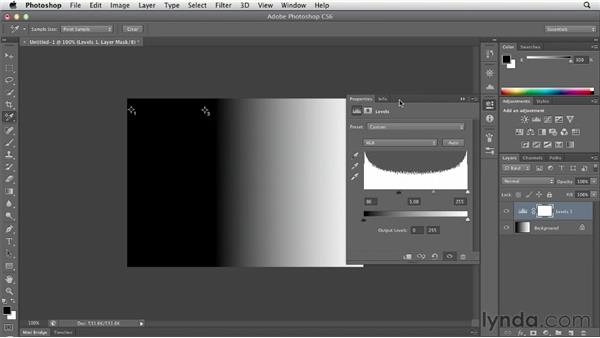 Improving tonal quality with Levels: Photoshop CS6 Essential Training