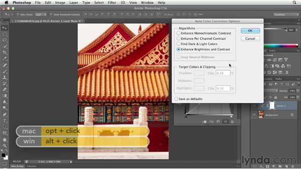 Removing a color cast with Auto Color: Photoshop CS6 Essential Training