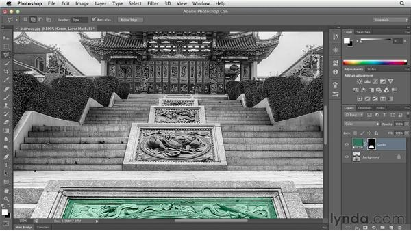 Using fill layers to create a hand-painted look: Photoshop CS6 Essential Training