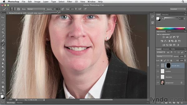 Smoothing skin and pores with the High Pass filter: Photoshop CS6 Essential Training
