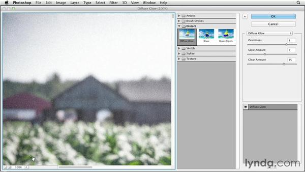 Adding noise with the Add Noise filter: Photoshop CS6 Essential Training