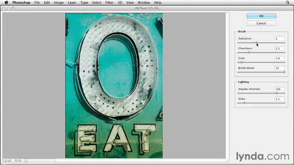 Creating a painting with the Oil Paint filter: Photoshop CS6 Essential Training