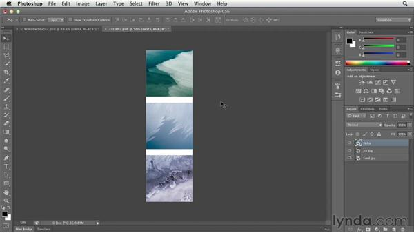 Applying a filter to multiple layers: Photoshop CS6 Essential Training