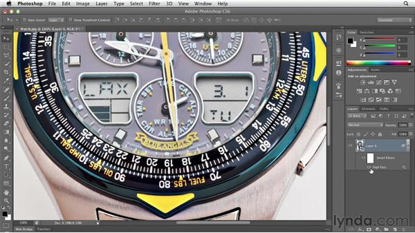 Sharpening an image with High Pass and Overlay: Photoshop CS6 Essential Training