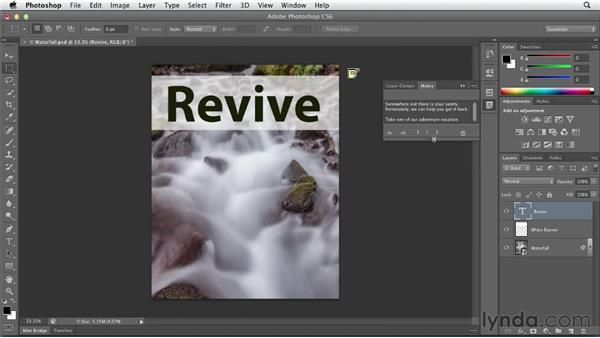 Exploring character (point) type: Photoshop CS6 Essential Training