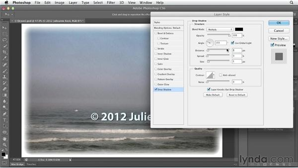 Creating a transparent logo or watermark: Photoshop CS6 Essential Training
